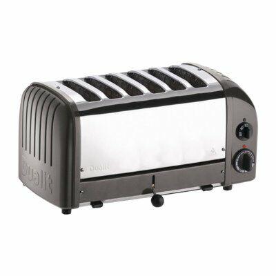 Dualit Toaster 60156 grau, 6 Scheiben-Gastro-Germany