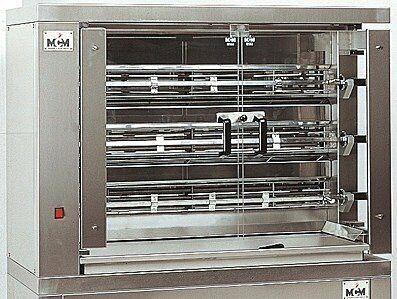 MCM Elektro Hähnchengrill 3 EE mit 3 Spießen für 15-18 Hähnchen-Gastro-Germany