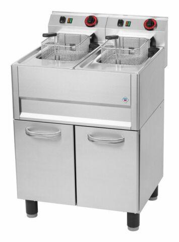 Gastro Friteuse mit spezial Edelstahl Heizelementen 2x 13 Liter 2x 9,9 kW-Gastro-Germany