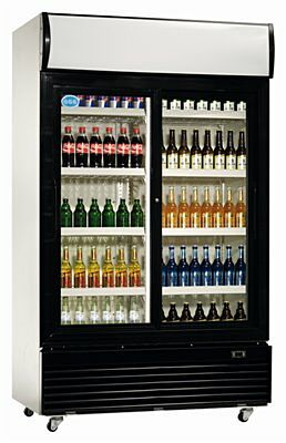 Flaschenkühlschrank, 800 Liter 1000 x 730 x 2036 mm-Gastro-Germany
