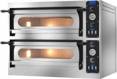 GAM Elektro Pizzaofen FOX 44, 2 Backkammer,400 V, für 8 Pizzen-Gastro-Germany