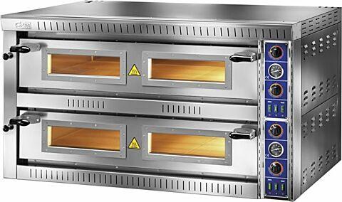 GAM Elektro Pizzaofen SB99 TOP,  Vollschamott, 400 V, für 18 Pizzen-Gastro-Germany