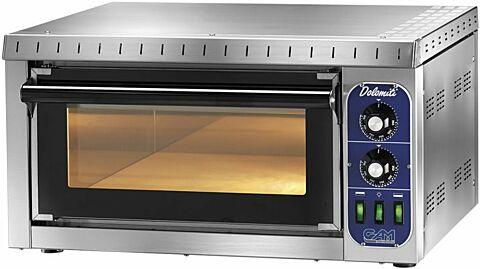 Elektro Pizzaofen DOLOMITI, 1 Backkammer,230 V, für 1 Pizza-Gastro-Germany
