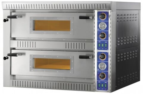 GAM Elektro Pizzaofen SBD44 TOP,  Vollschamott, 400 V, für 8 Pizzen-Gastro-Germany