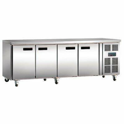 Polar Kühltisch 4-türig 553 Liter, 2230x700x860mm-Gastro-Germany
