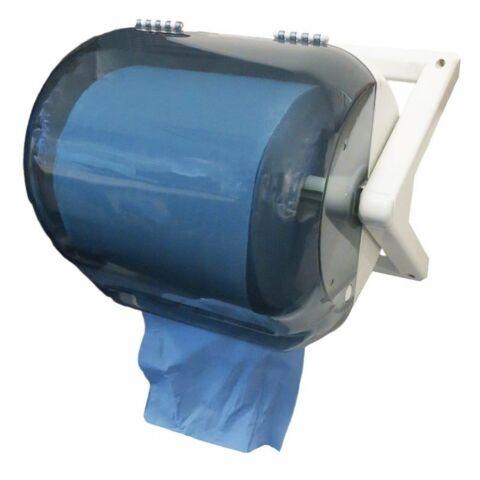 Jantex Papierspender für blaue Wischtuchrollen, 34x43,5x34,5  cm-Gastro-Germany