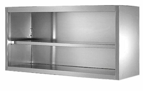 Wandhängeschränke aus Edelstahl, offen 800 x 400 x 650 mm-Gastro-Germany