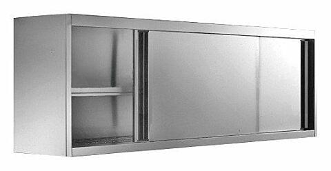 Wandhängeschrank mit Schiebetüren 2000 x 400 x 650 mm-Gastro-Germany