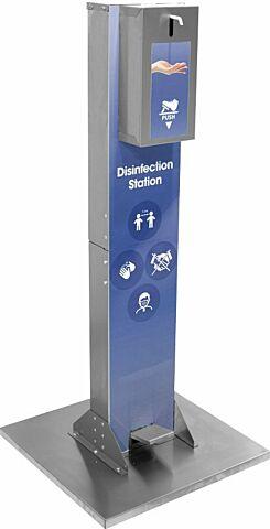Desinfektionsmittelständer mit Fußpumpe 500 x 500 x 1125 mm-Gastro-Germany