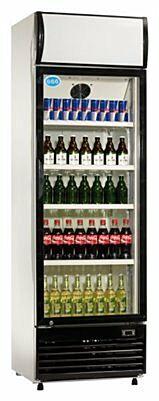 Flaschenkühler, 350 Liter Umluftkühlung, 620x635x1890mm-Gastro-Germany