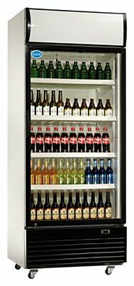 Flaschenkühler,660 Liter Umluftkühlung, 840x730x2036mm-Gastro-Germany