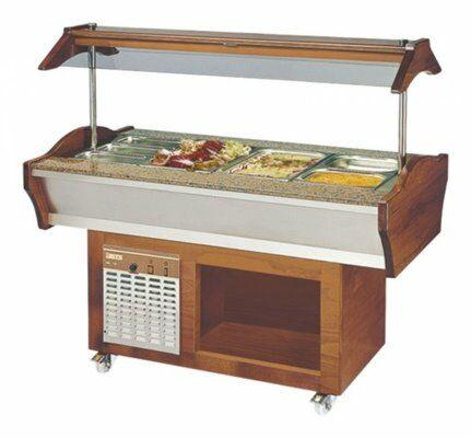 Gastro Buffet Salatbar SB-C GN 155, 1550 x 900 x 850 / 1350 mm-Gastro-Germany