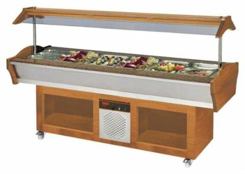Gastro Buffet Salatbar SB-C GN 220, 2200 x 900 x 850/1350 mm-Gastro-Germany