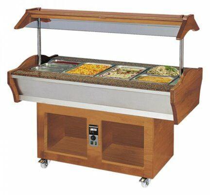 Gastro Buffet HOT SB-H GN155, 1550 x 900 x 850 / 1350 mm-Gastro-Germany