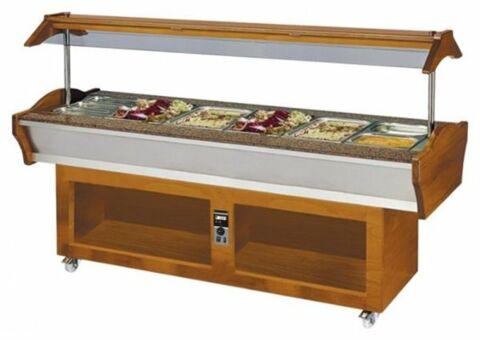 Gastro Buffet HOT SB-H GN220, 2200 x 900 x 850/1350 mm-Gastro-Germany