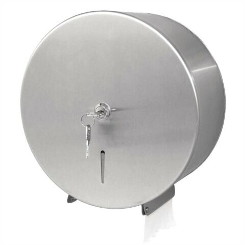 Jantex Jumbo Toilettenpapierspender aus Edelstahl, 26x21,8x27cm-Gastro-Germany