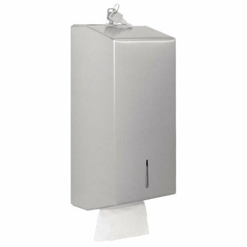 Jantex Massentoilettenpapierspender aus Edelstahl, 12,5x29,5x12 cm-Gastro-Germany