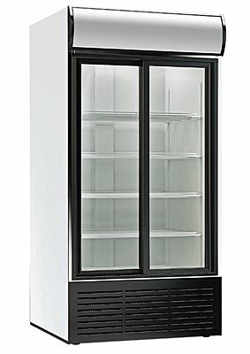 Glastürkühlschrank mit 2 Schiebetüren 1250 GDU