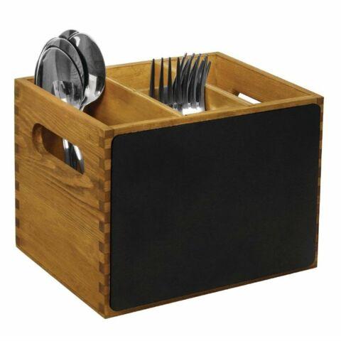 Olympia Besteckbehälter Holz mit Tafel-Gastro-Germany