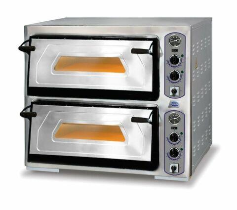 Profi-Line Elektro Pizzaofen 2 Backkammer für 8 Pizzen, 400 V-Gastro-Germany