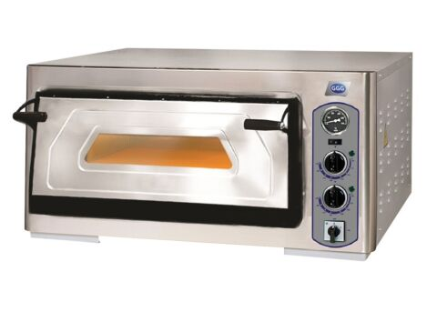 Profi-Line Elektro Pizzaofen 1 Backkammer für 4 Pizzen, 400 V-Gastro-Germany