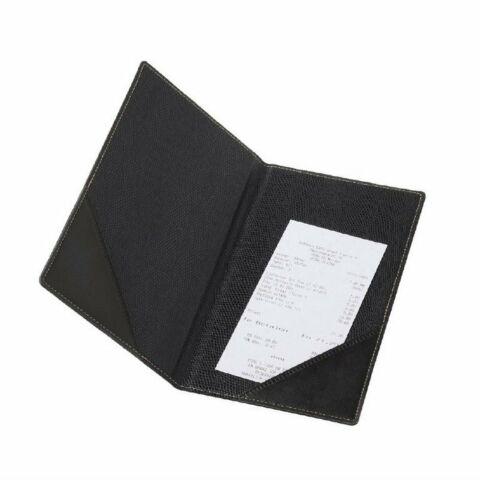 Rechnungsmappe schwarz A5, 13x0,5x23,5 cm-Gastro-Germany