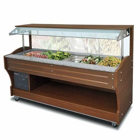 Kühl-Salat-Buffet, Wandmodell, für 6x GN 1/1 , Breite 2200mm
