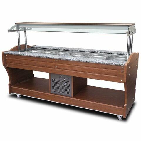 Kühl-Salat-Buffet für 6x GN 1/1 h=150 mm, Breite 2200mm