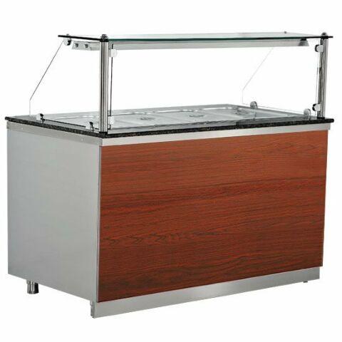 Kühltheke Gastronomie Pro mit Holzfront