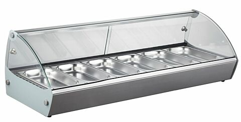 KBS Aufsatz-Heißvitrine für 6 x GN 1/3, 1127x420x336mm-Gastro-Germany