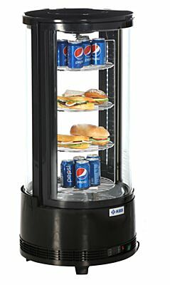 KBS Aufsatzkühlvitrine Rondo mit 4 Etagen, 504x504x1060mm-Gastro-Germany