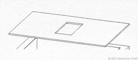 Behälterabdeckung für B 100 passend für Flockeneisbereiter KF 180, BF 100-Gastro-Germany