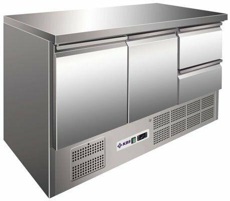 Kühltisch KTM 302, 1370x700x875 mm EEK C-Gastro-Germany