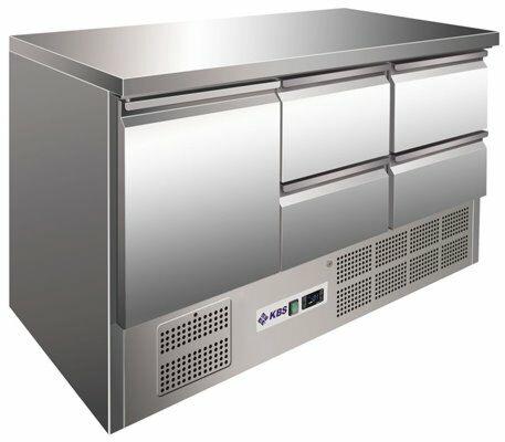 Kühltisch KTM 304, 1370x700x875 mm EEK C-Gastro-Germany