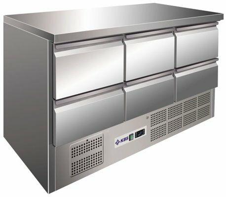 Kühltisch KTM 306, 1370x700x875 mm EEK C-Gastro-Germany