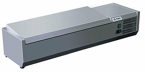 Kühlaufsatz RX 1210 mit CNS Deckel, 1200x395x280 mm, 4x GN 1/3-Gastro-Germany