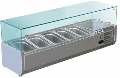 Kühlaufsatz RX 1400, 1400x395x435 mm, für 5x GN 1/3-Gastro-Germany