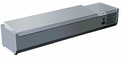 Kühlaufsatz RX 1410 mit CNS Deckel, 1400x395x280 mm, 5x GN 1/3-Gastro-Germany