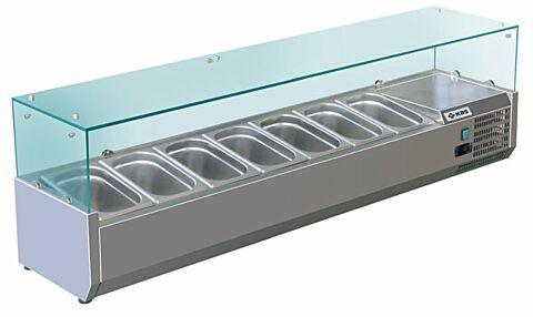 Kühlaufsatz RX 1600, 1600x395x430 mm, für 7x GN 1/3-Gastro-Germany