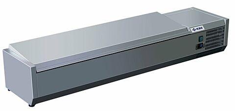 Kühlaufsatz RX 1610 mit CNS Deckel, 1600x395x280 mm, 7x GN 1/3-Gastro-Germany