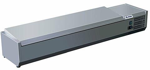 Kühlaufsatz RX 1810 mit CNS Deckel, 1800x395x280 mm, 8x GN 1/3-Gastro-Germany