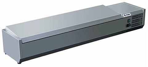 Kühlaufsatz RX 2010 mit CNS Deckel, 2000x395x280 mm, 9x GN 1/3-Gastro-Germany