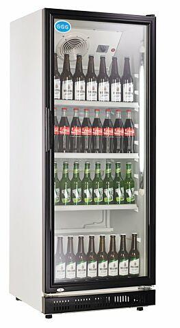 Flaschenkühler, 310 Liter, Türrahmen schwarz, 620 x 635 x 1562 mm-Gastro-Germany