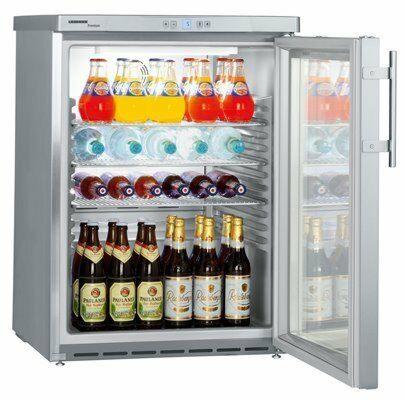 Liebherr Premium Gewerbe Umluft Getränke Edelstahl Kühlschrank FKUv 1663, LED-Gastro-Germany