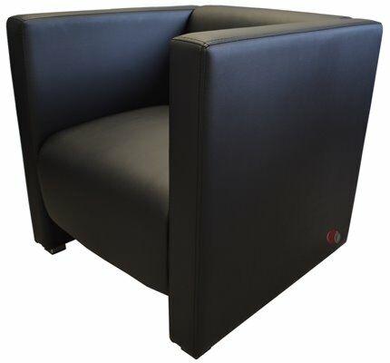 Lounge Bank Reka 70x70 cm, schwarz-Gastro-Germany