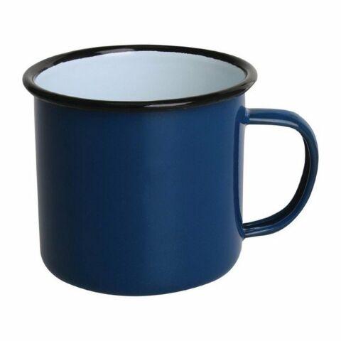 Olympia Emaille Tasse blau-schwarz 35cl (6 Stück)-Gastro-Germany