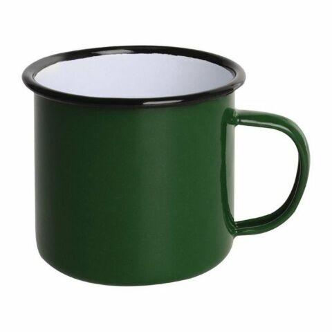 Olympia Emaille Tasse grün-schwarz 35cl (6 Stück)-Gastro-Germany