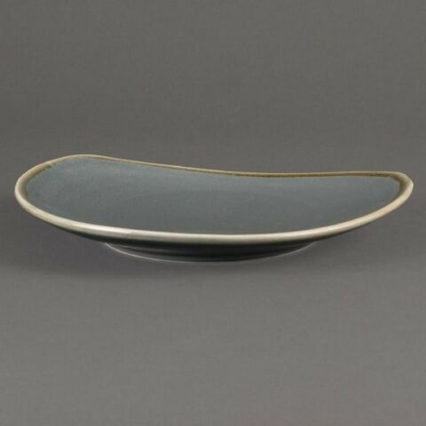 Olympia Kiln dreieckiger Teller Ozean 23cm (6 Stück)-Gastro-Germany