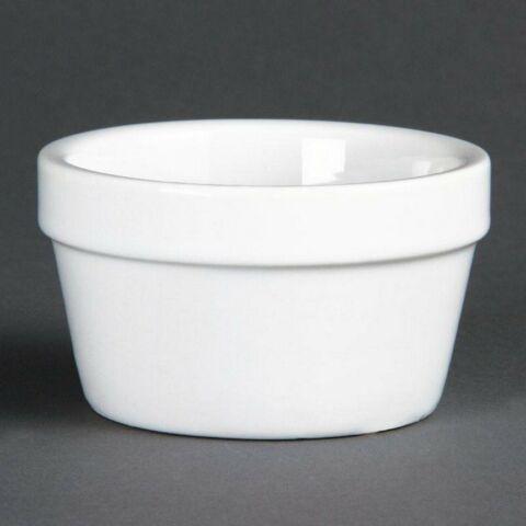 Olympia stapelbares Auflaufförmchen matt weiß 75x45mm (6 Stück)-Gastro-Germany