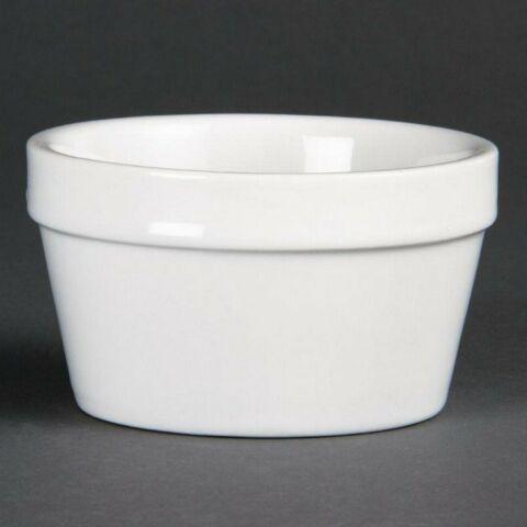Olympia stapelbares Auflaufförmchen matt weiß 95x45mm (6 Stück)-Gastro-Germany